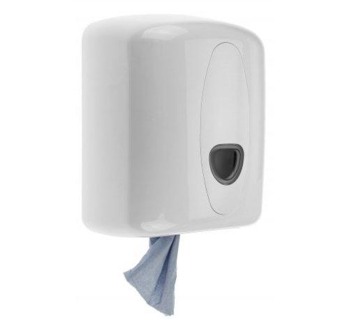 PlastiQline 2020 Distributeur de rouleaux de nettoyage midi en plastique blanc