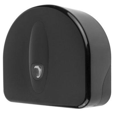 PlastiQline 2020 Jumbo roll dispenser mini + rest roll plastic black