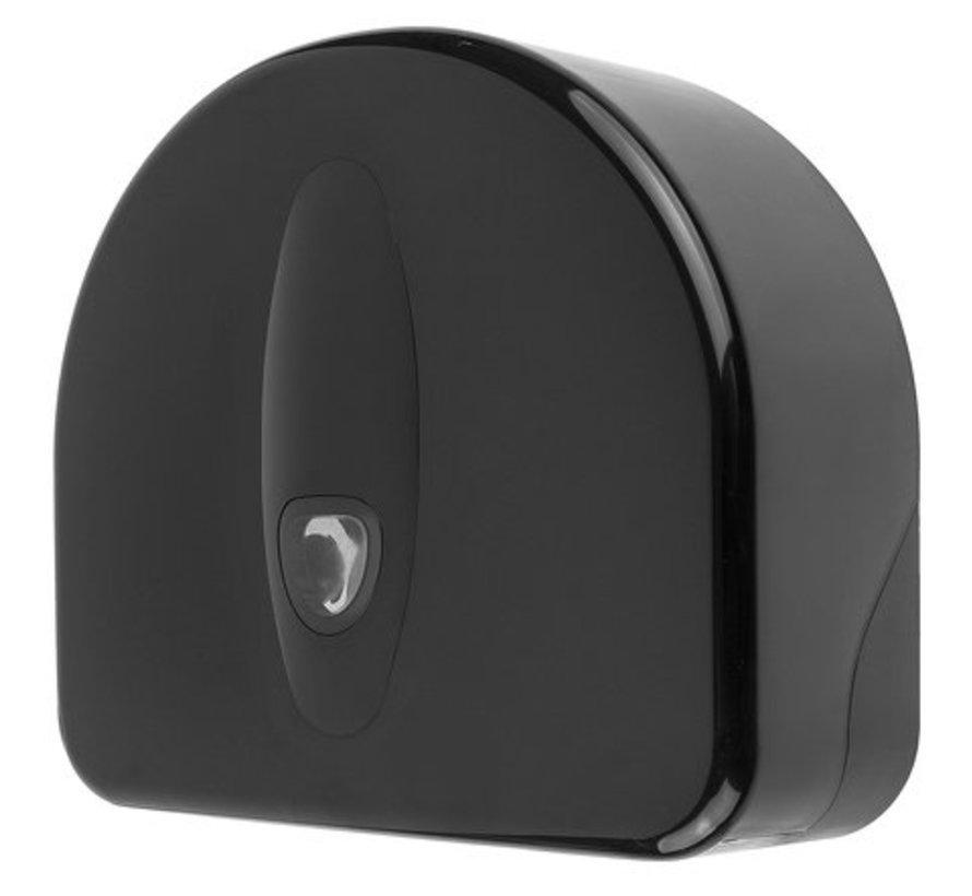 Jumbo roll dispenser mini + rest roll plastic black