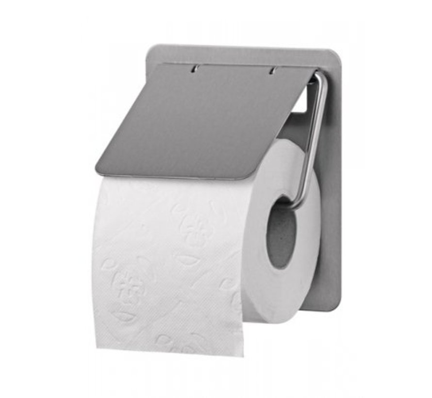 Toilet roll holder 1-roll stainless steel