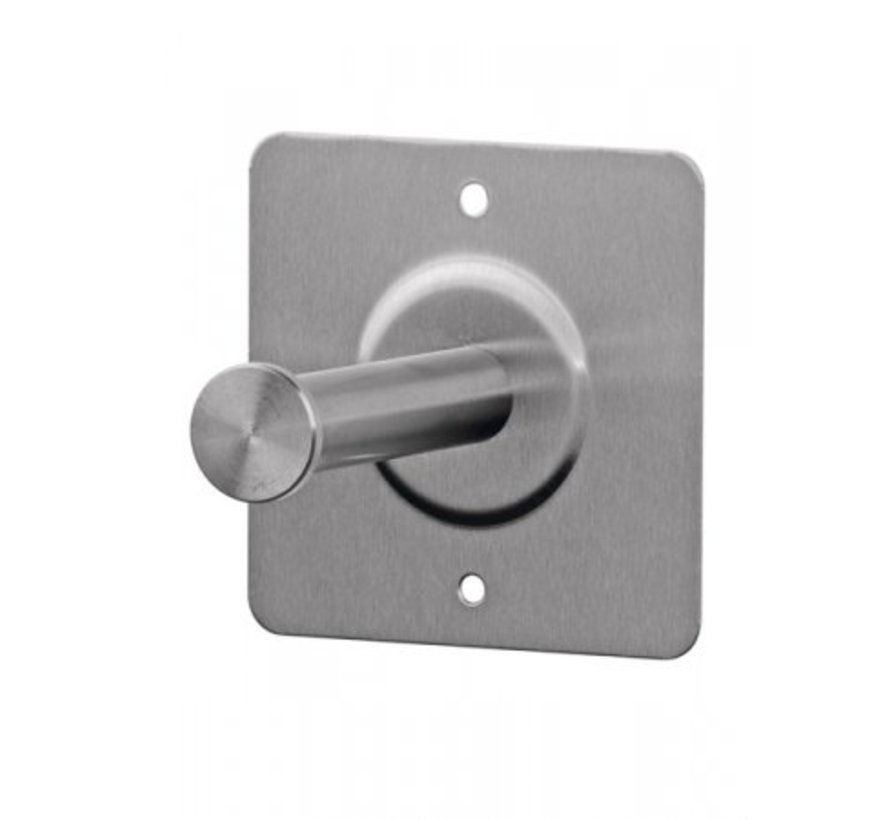 Spare roll holder 1 roll stainless steel