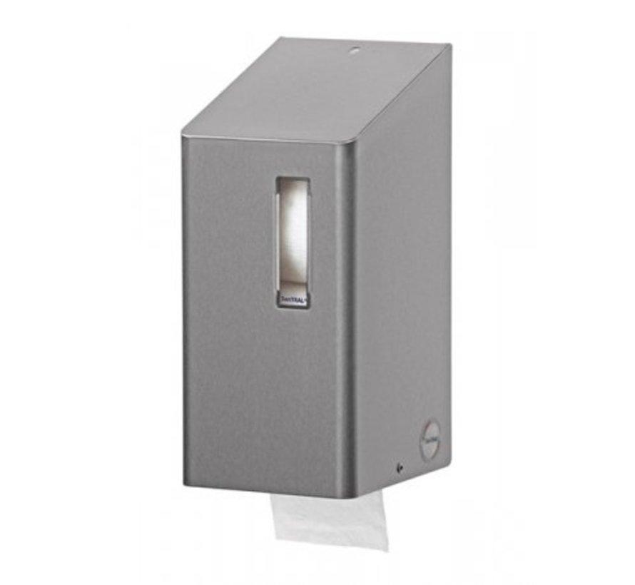 Toiletrolhouder (kokerloze rollen) 2rols RVS