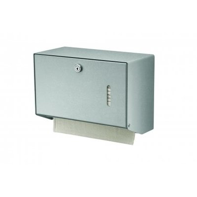 Wings Handdoekdispenser aluminium klein