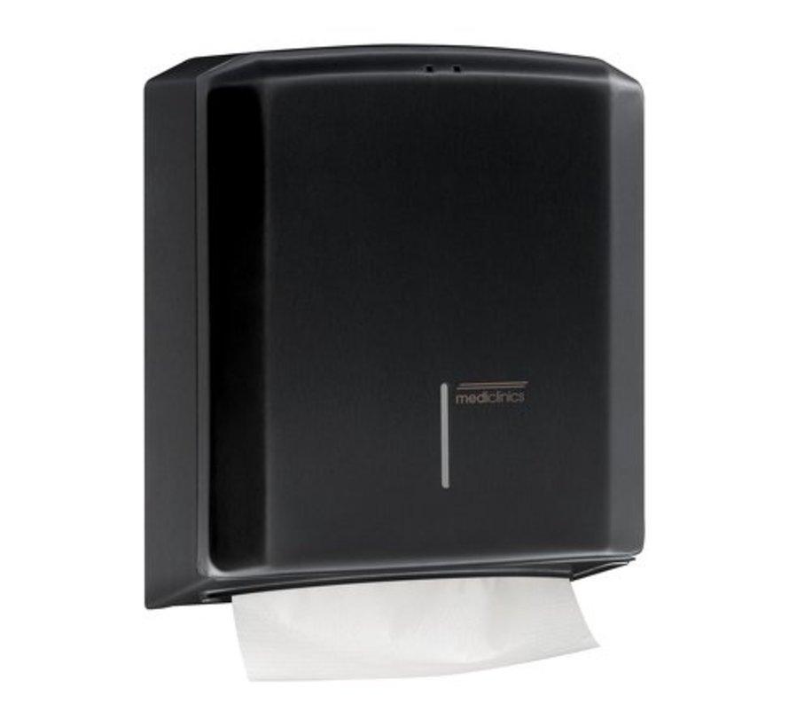 Hand towel dispenser black