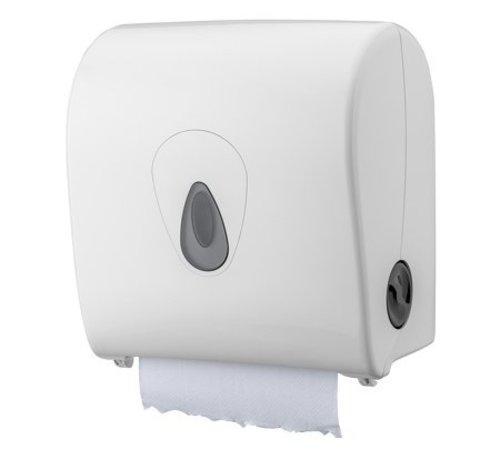 PlastiQline  Distributeur d'essuie-mains en plastique blanc mini