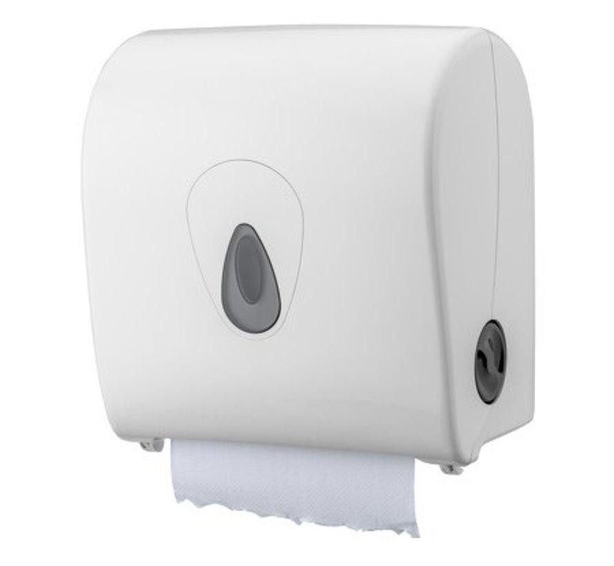 Towel roll dispenser plastic white mini