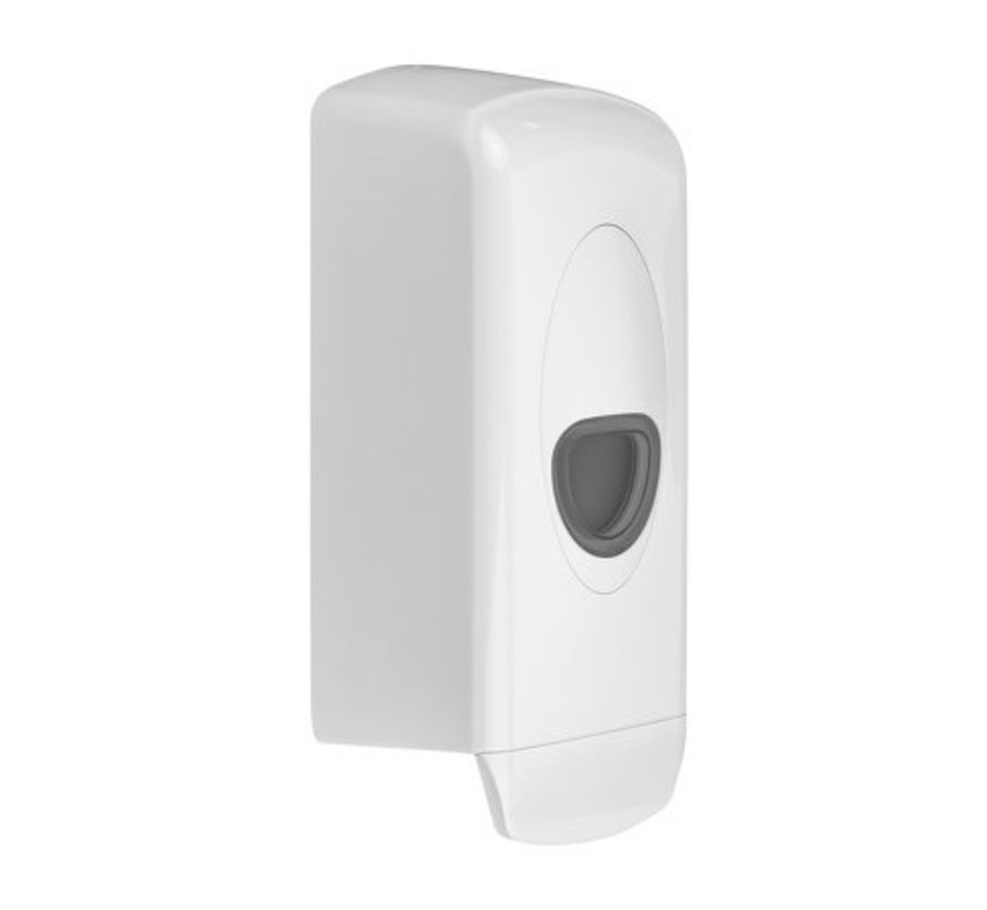 Distributeur de savon 1000 ml plastique rechargeable blanc