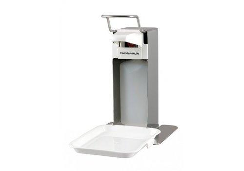 MediQo-line Zeep- & Desinfectiedispenser 500ml RVS + opvangschaal