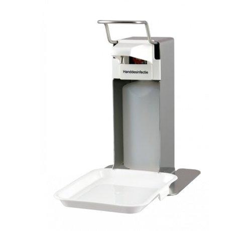 MediQo-line Distributeur de savon et de désinfection 500 ml en acier inoxydable + bac de récupération