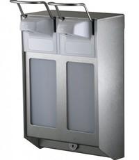 MediQo-line DUO Soap & disinfectant dispenser 500 ml KB stainless steel