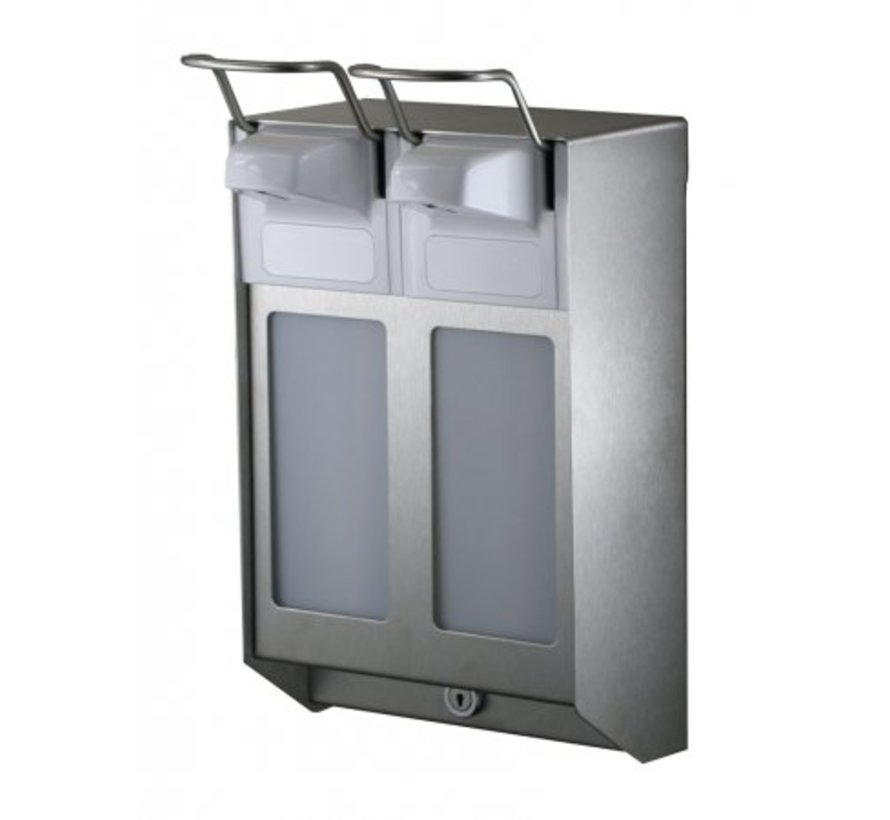 DUO Soap & disinfectant dispenser 500 ml KB stainless steel