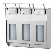 MediQo-line TRIO Distributeur de savon et de désinfectant 500 ml en acier inoxydable KB