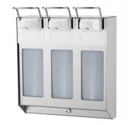 MediQo-line TRIO Distributeur de savon et de désinfectant 1000 ml en acier inoxydable KB