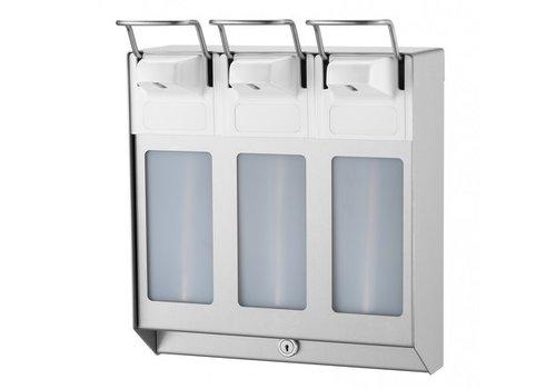 MediQo-line TRIO Soap & disinfectant dispenser 1000 ml KB stainless steel