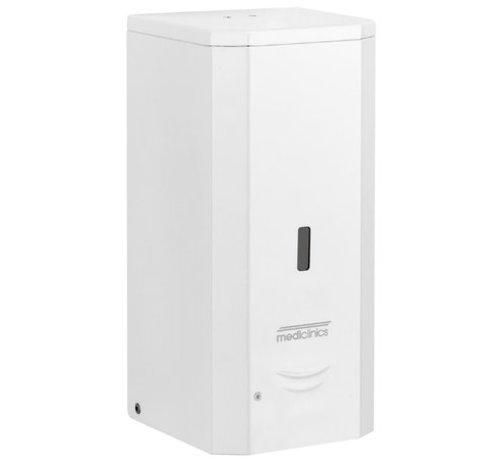 Mediclinics Distributeur de savon automatique en acier inoxydable blanc 1000 ml