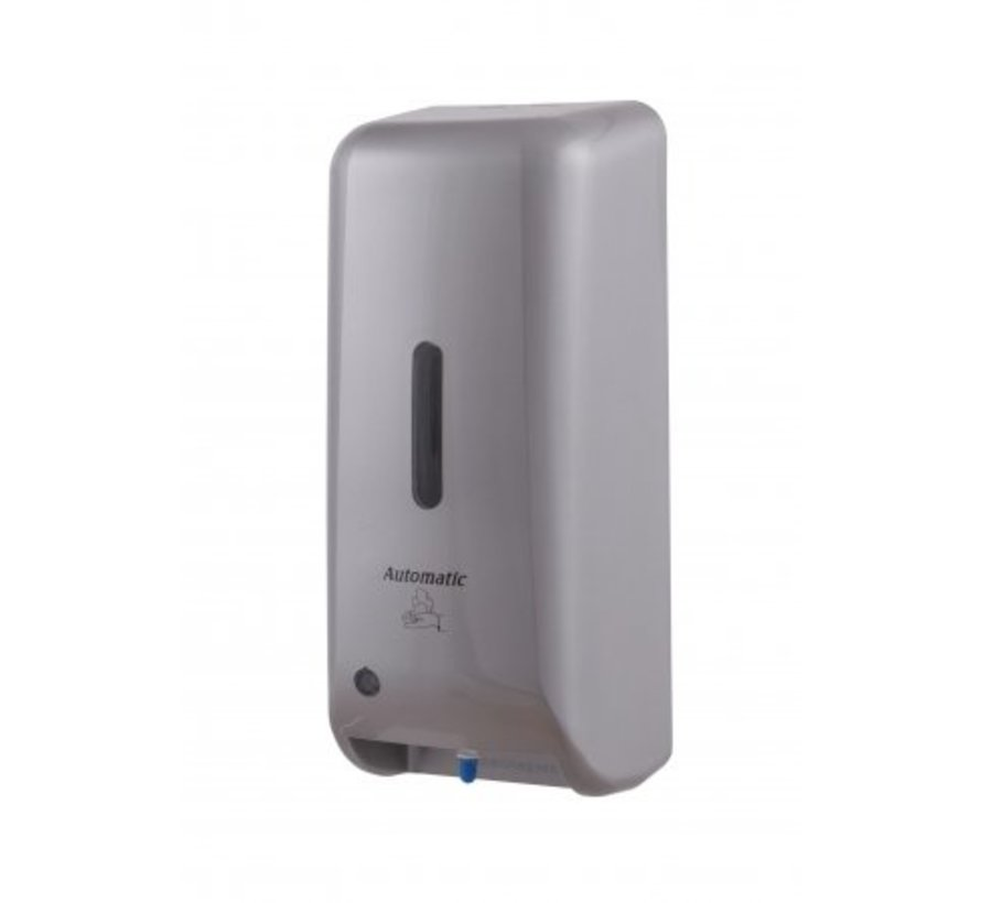 Soap dispenser automatic plastic stainless steel look