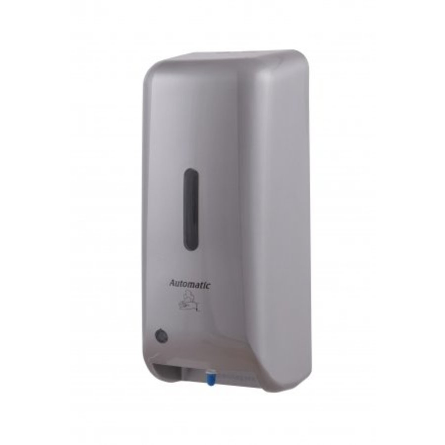 Soap dispenser automatic plastic stainless steel look-1
