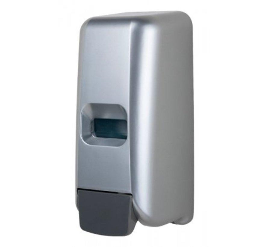 Distributeur de savon mousse aspect plastique inox