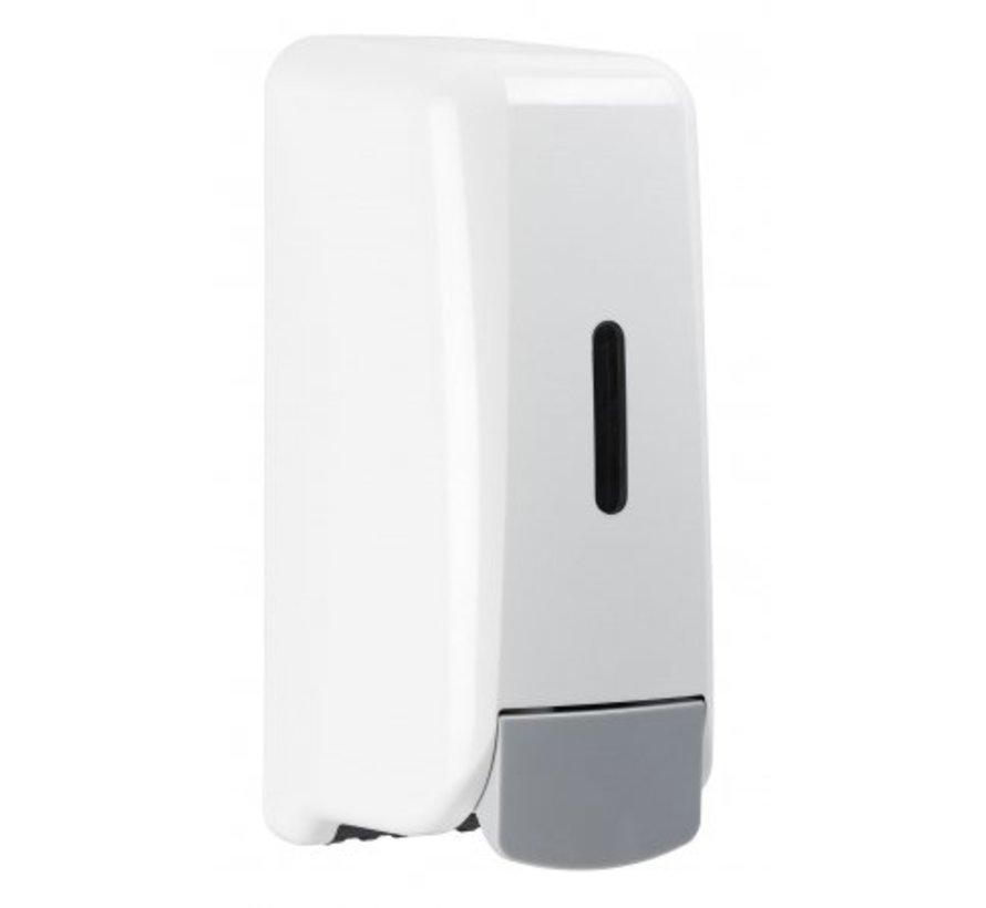 Distributeur de savon mousse plastique blanc