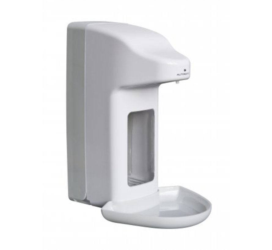 Zeep- & desinfectiemiddeldispenser automatisch 500 ml kunststof