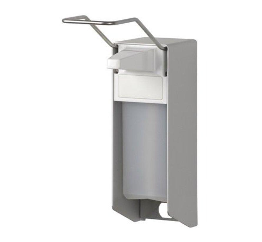 Zeep- & desinfectiemiddeldispenser 500 ml LB aluminium - ingo-man versie