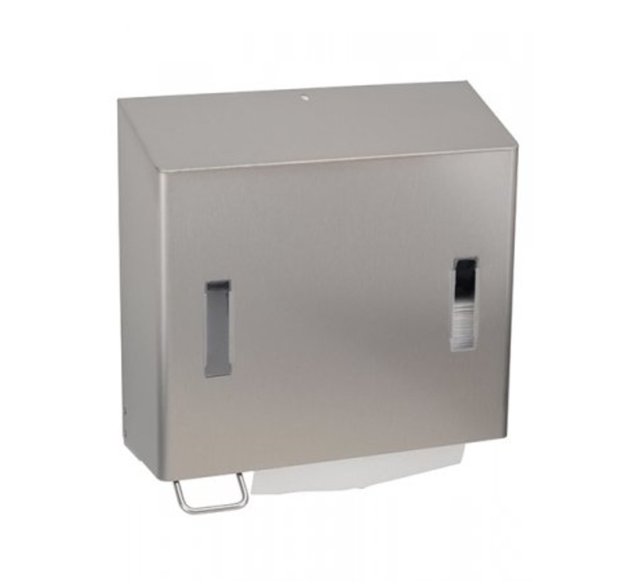 Combination dispenser soap & towel dispenser