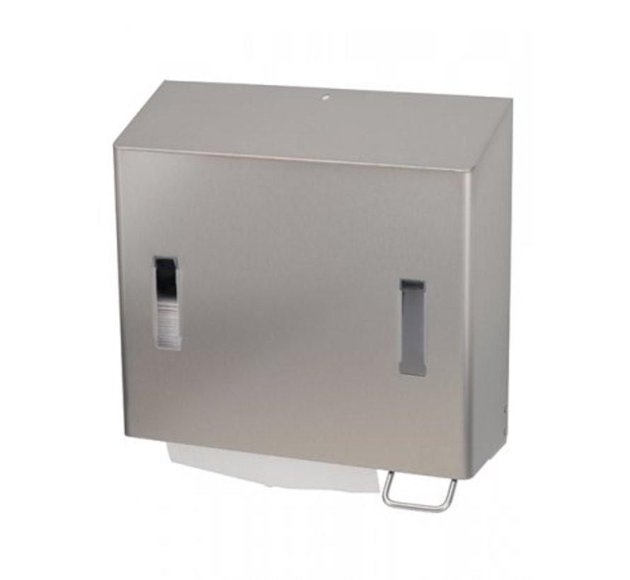 Combinatiedispenser zeep- & handdoekdispenser