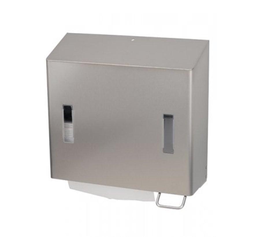 Distributeur combiné de savon et serviettes