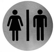 Mediclinics Pictogram man/vrouw RVS