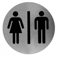 Pictogram man / woman stainless steel