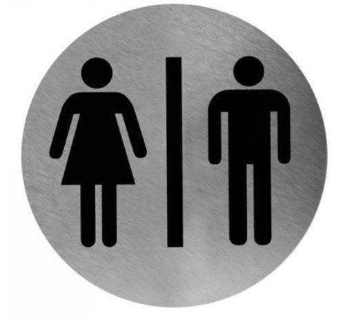 Mediclinics Pictogramme homme / femme en acier inoxydable
