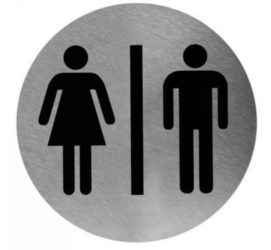 Pictogramme homme / femme en acier inoxydable