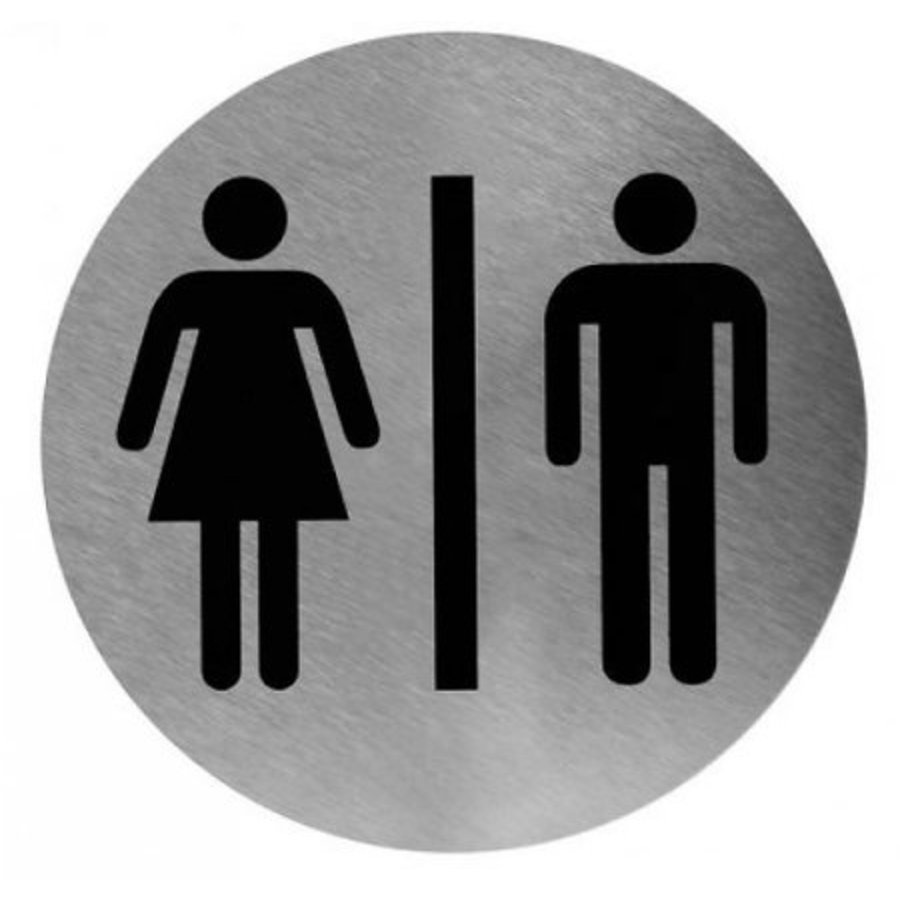 Pictogram man / woman stainless steel-1