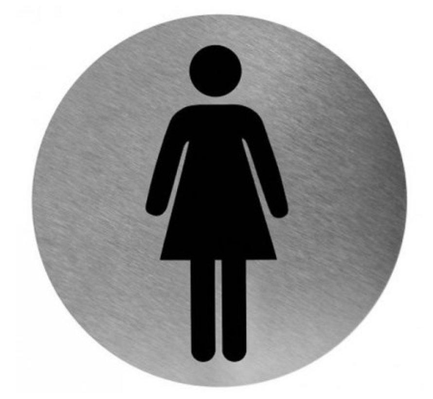 Pictogram vrouw RVS