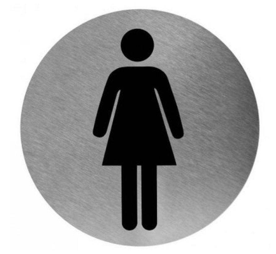 Pictogram woman stainless steel
