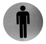 Mediclinics Pictogramme homme en acier inoxydable