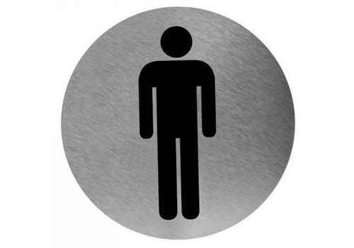 Mediclinics Pictogram man stainless steel