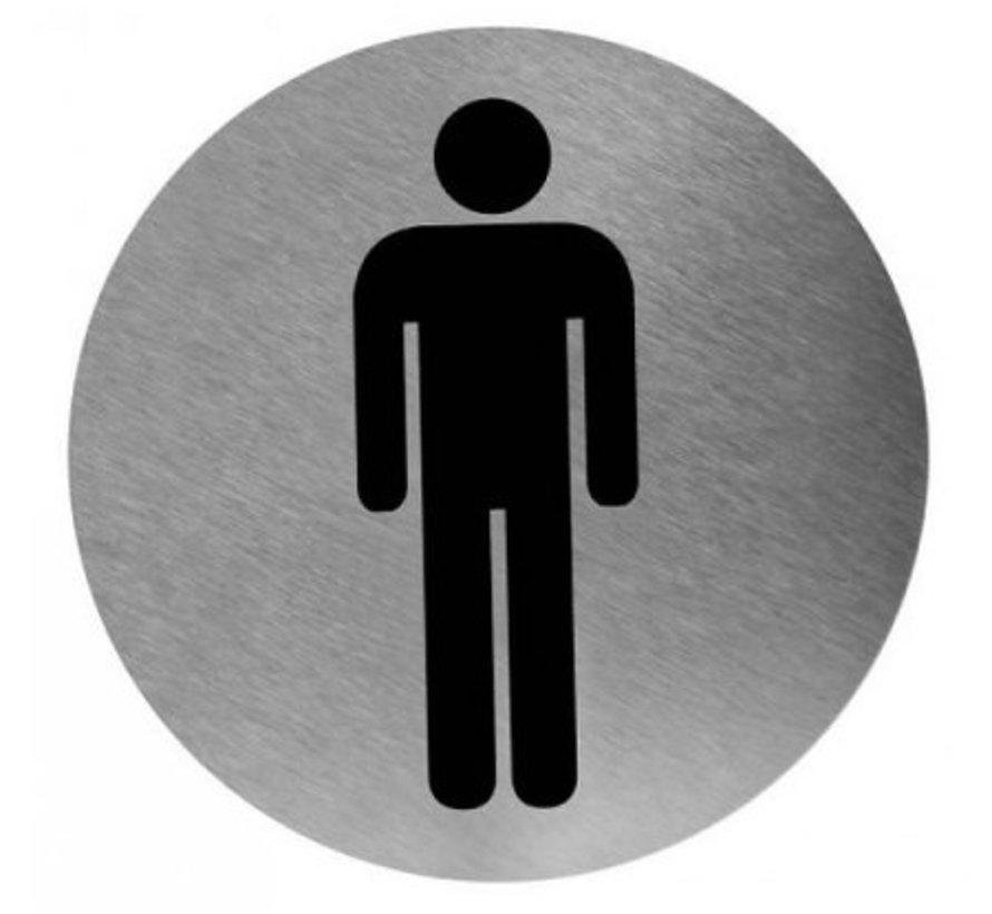 Pictogramme homme en acier inoxydable