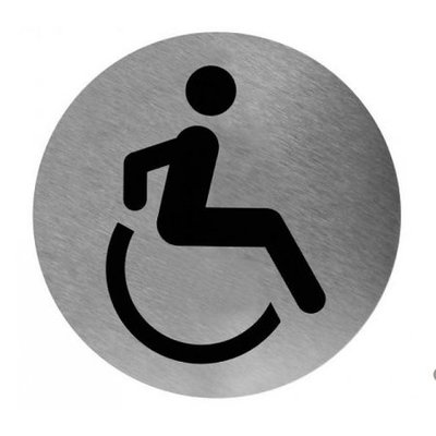 Mediclinics Pictogramme toilette handicapés inox