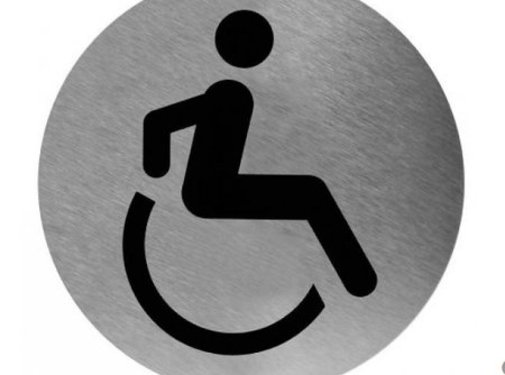 Mediclinics Pictogram invalide toilet RVS