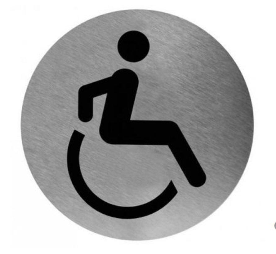 Pictogramme toilette handicapés inox