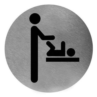 Mediclinics Icon changement de couche en acier inoxydable