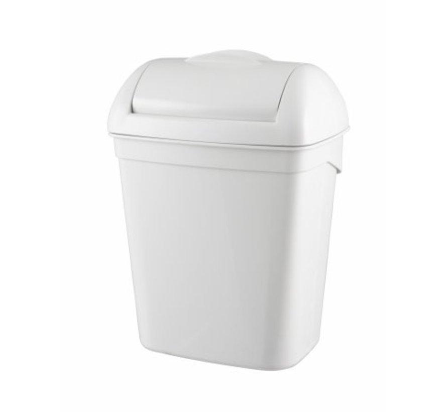 Hygiënebak 8 liter kunststof wit