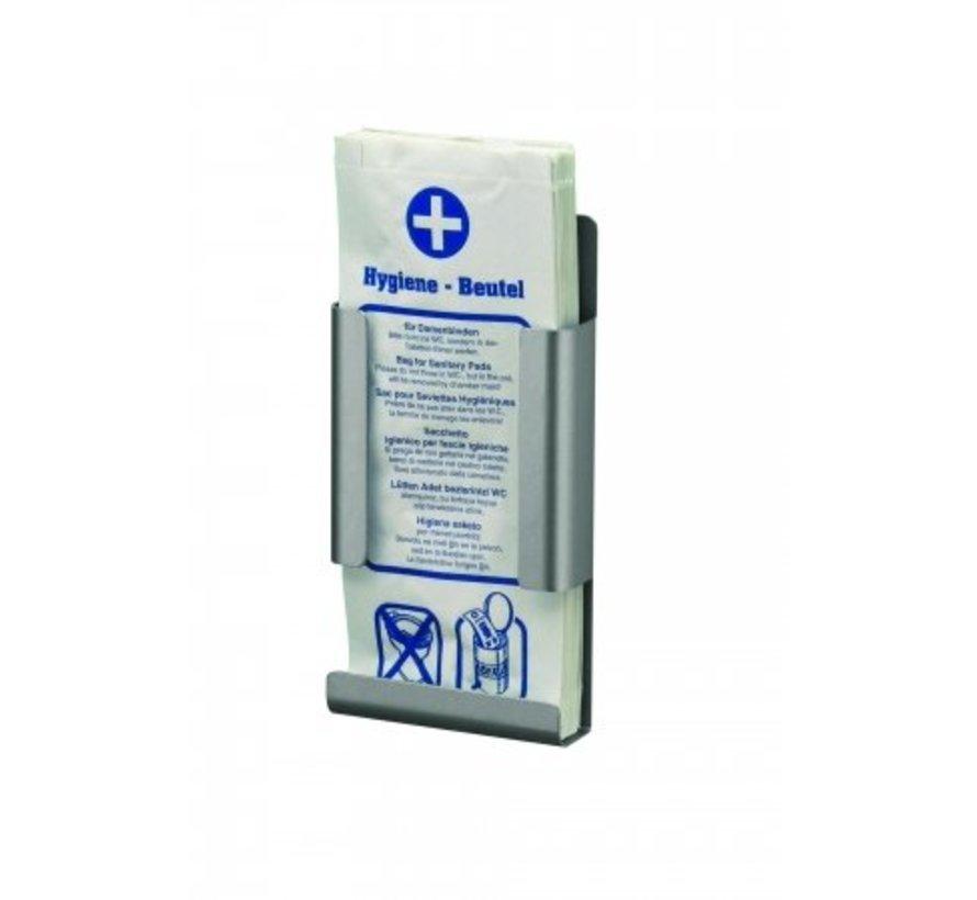 Hygiene bag dispenser aluminum