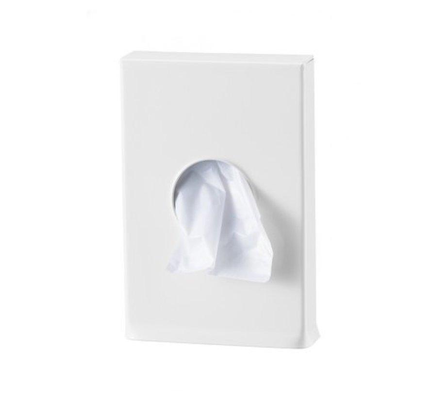 Distributeur de sacs d'hygiène blanc