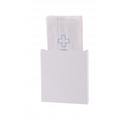 Dutch Bins Distributeur de sacs d'hygiène blanc