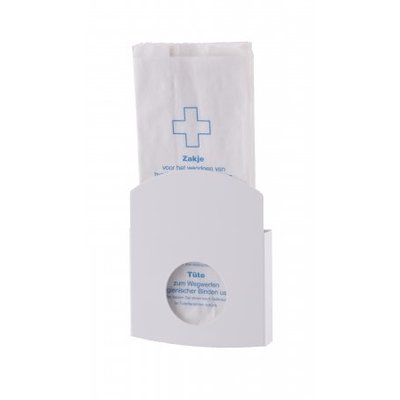 Dutch Bins Hygiene bag holder white