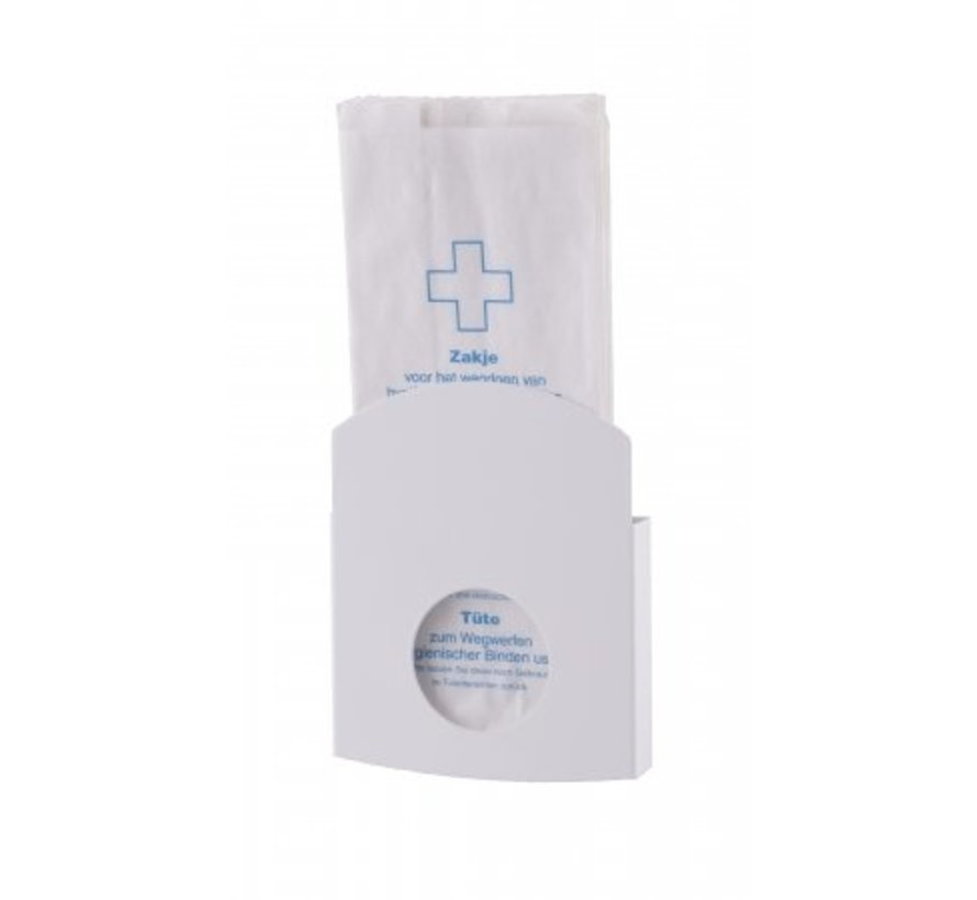 Hygiene bag holder white