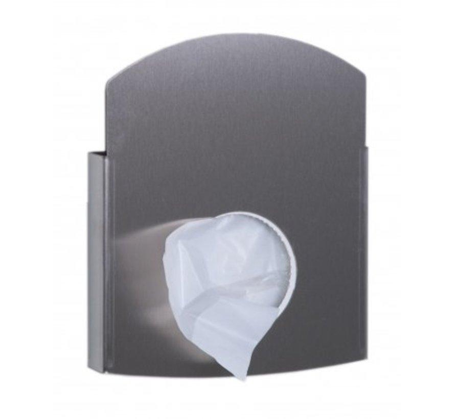 Porte sac hygiénique en acier inoxydable