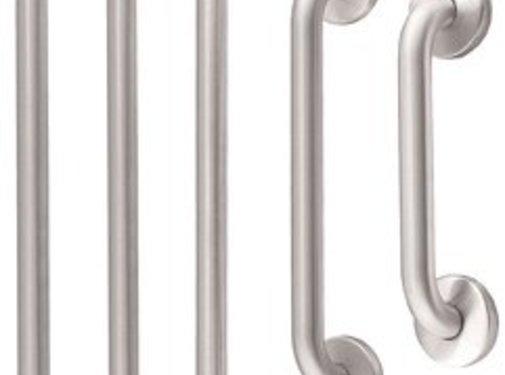 MediQo-line Grab bar RVS recht 387 mm